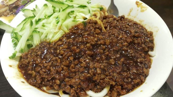 Soya Bean Minced Pork Cucumber Noodle- Served Cold
