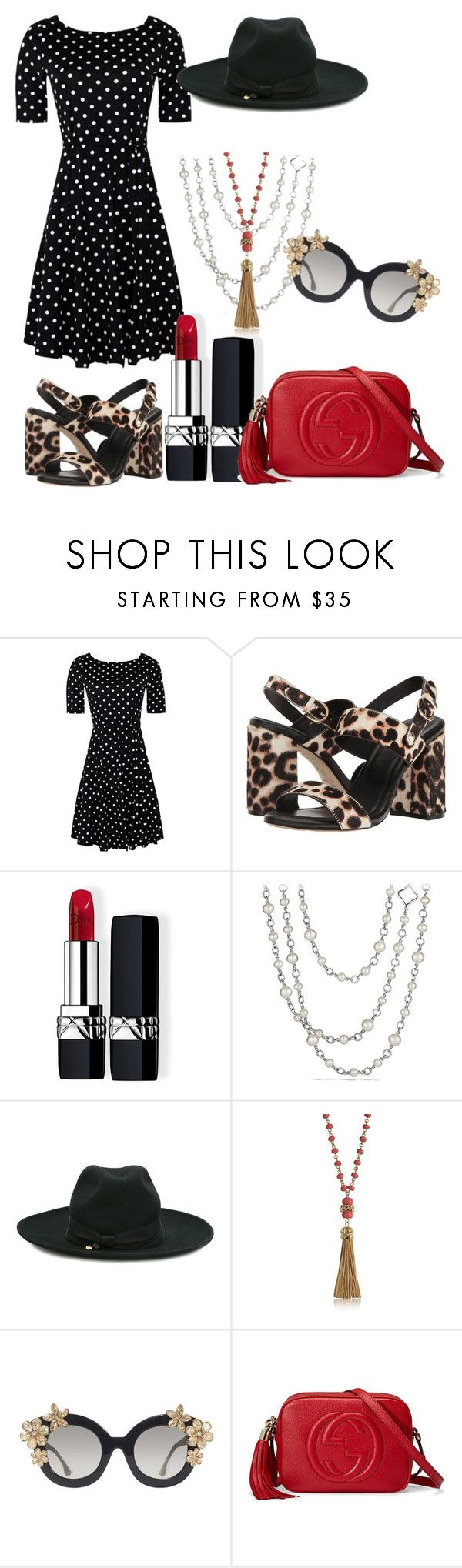 """""""black red summer"""" by ariannadi on Polyvore featuring Joie, Christian Dior, David Yurman, Federica Moretti, Tory Burch, Alice + Olivia and Gucci"""