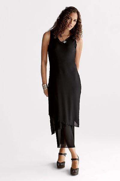 Petite Sleeveless Mesh Dress by Cynthia Ashby: Knit Dress available at  www.artfulhome.