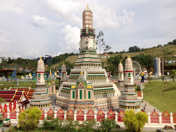 Mini Wat Arun building in Thailand at Lego land Malaysia