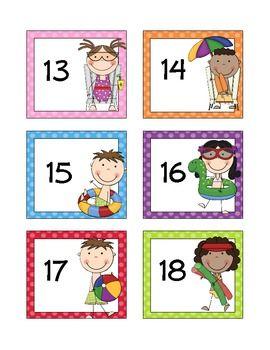 July / Summer Calendar Cards * FREE * - Doodle Bugs Teaching - TeachersPayTeachers.com