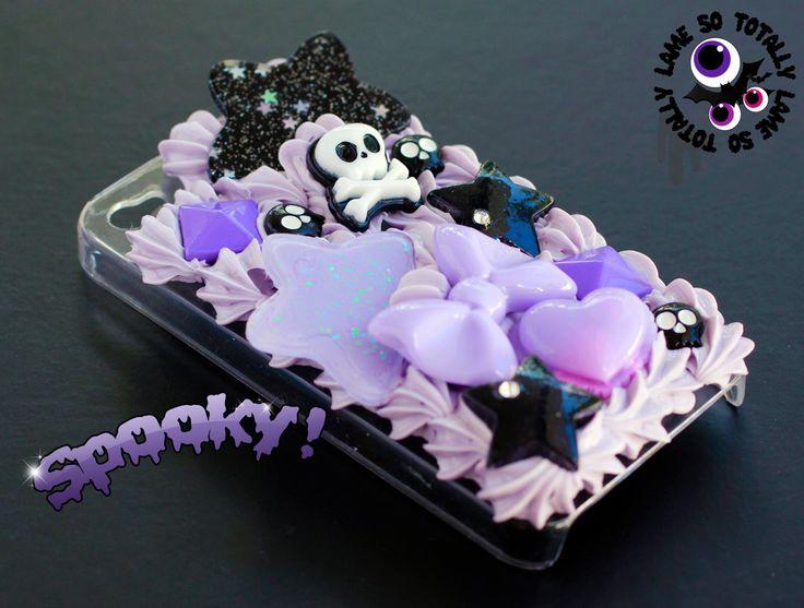 SALE - Spooky Horror Creepy Cute Decoden Kawaii Case for iPhone 4 / iPhone 4S. $20.00, via Etsy.