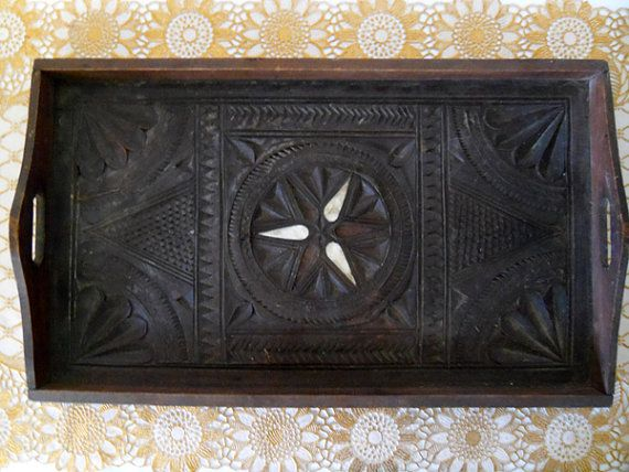 antique wood tray wood serving tray antique ornate rustic moroccan 1302