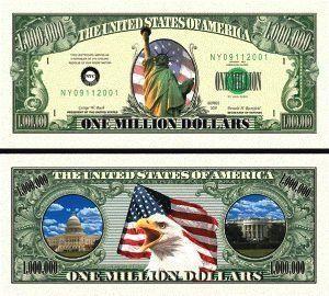 STATUE OF LIBERTY MILLION DOLLAR BILL (w/protector) by AAC. $2.49. STATUE OF LIBERTY MILLION DOLLAR BILL