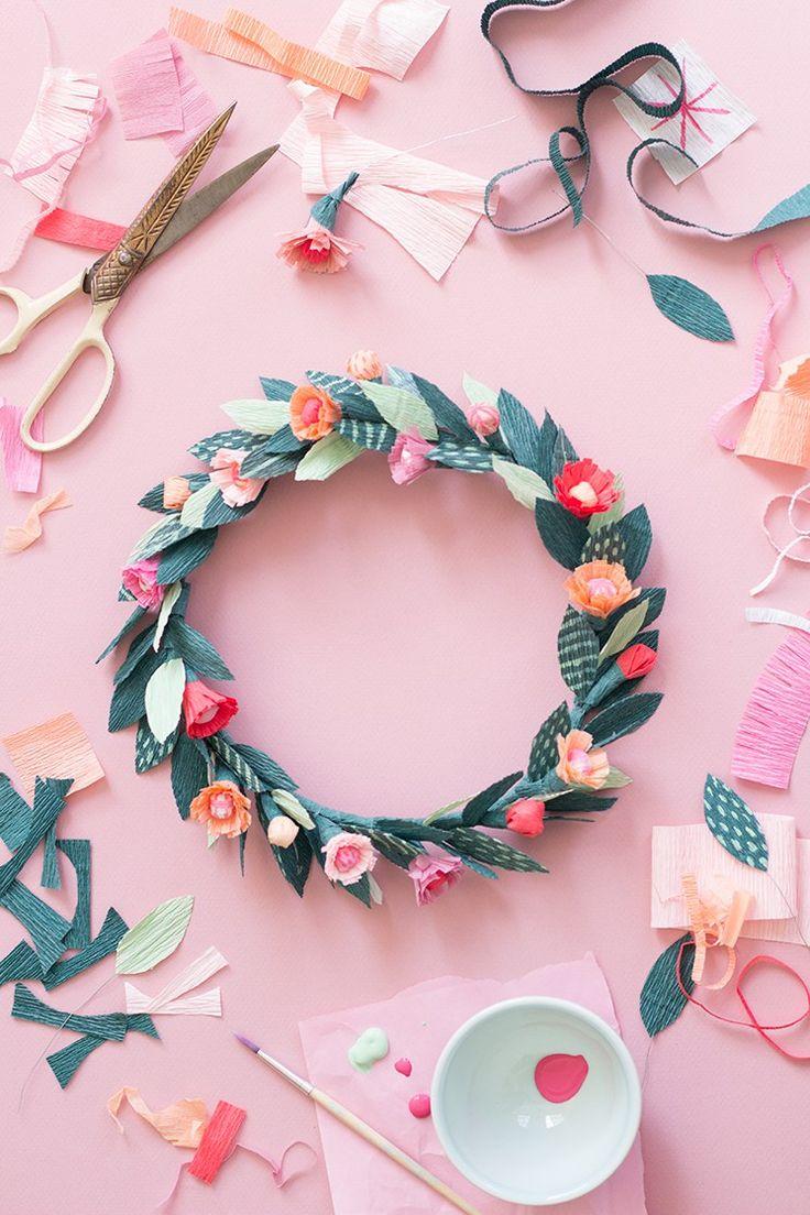 DIY Paper Spring Floral Crown Tutorial