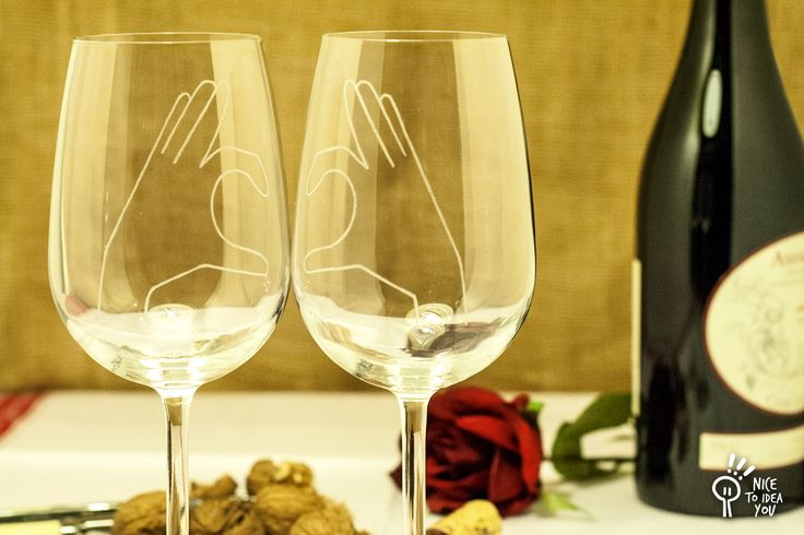 San Valentine's day? Tell it with a wine glass! :)  #love #sanvalentine #amore @CustomMade