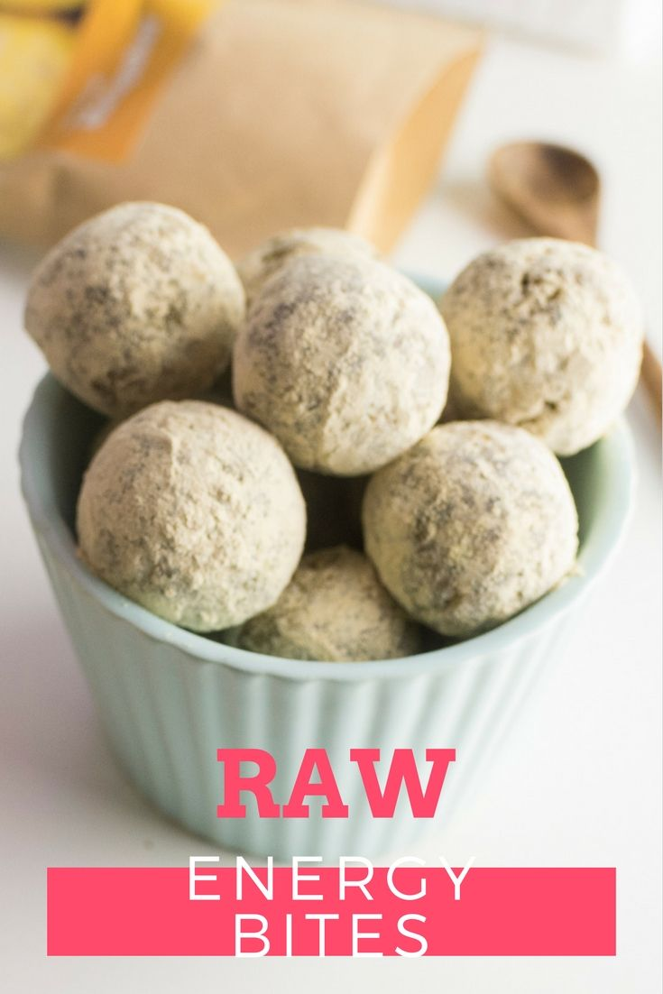 3 ingredient - healthy raw energy bites.
