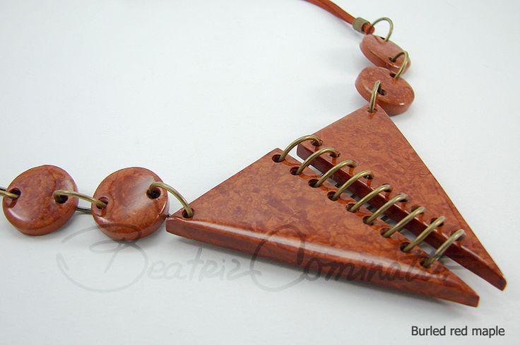 Imitação de Burled Red Maple (Bozzi Super Polymer Clay) | Flickr - Photo Sharing!