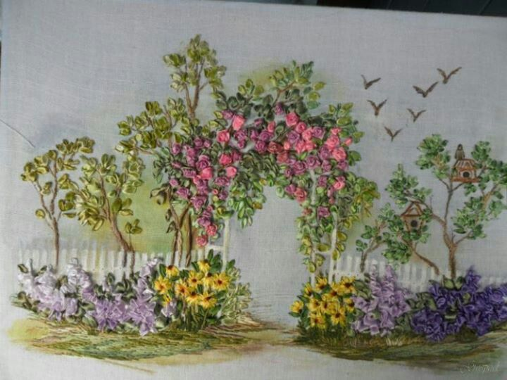236 Best Silk Ribbon Embroidery Images On Pinterest Ribbons Silk