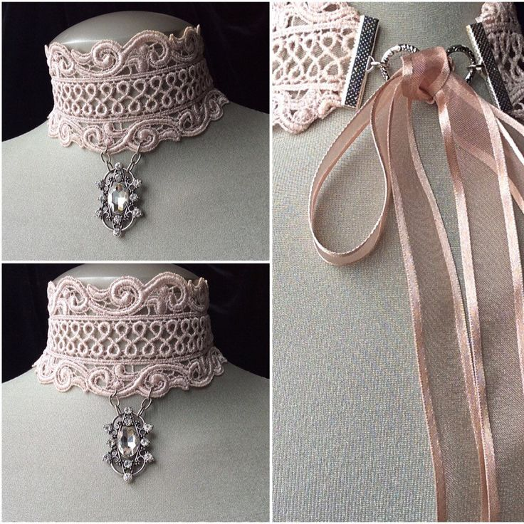 "Bridal ""French Lace Blush Pink"" choker! For all those spring brides!"