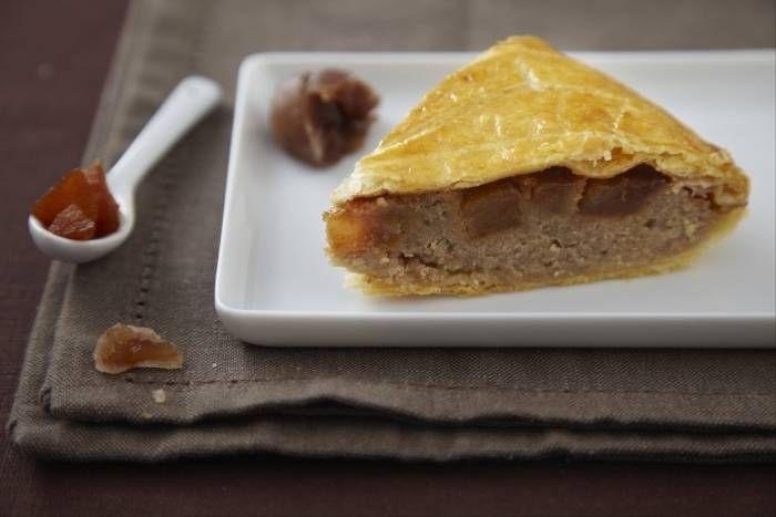 Recette de Galette des Rois aux poires caramélisées et crème de marrons