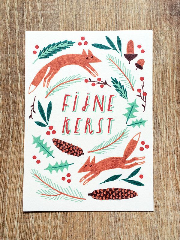 Made by Marianne Lock / Christmas Card / Illustration / FOR SALE