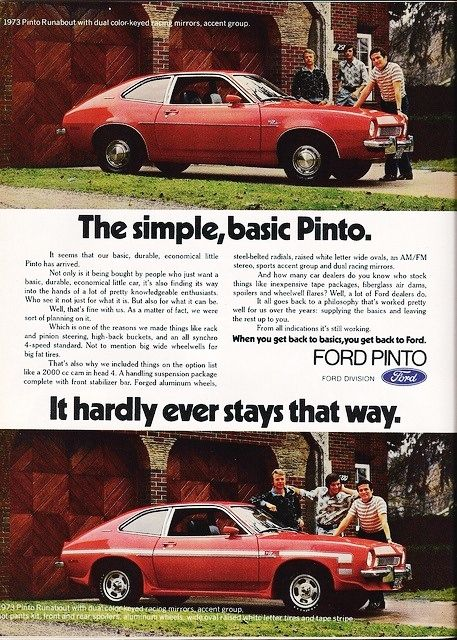 Disasters of ford pinto essay