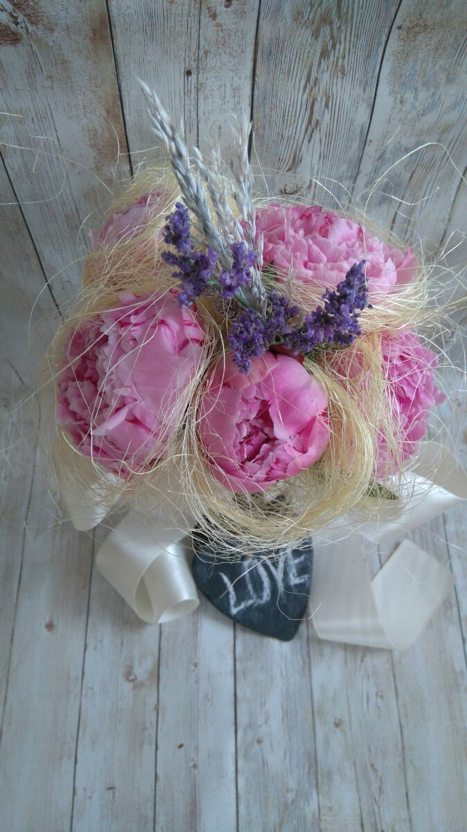 Sweet peonies Bridal Bouquet by thehappylittlejar on Etsy