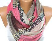 NEW Pink Scarf Light Brown Scarf Brown Scarf Summer Scarf Spring Scarf Shawl Gift Ideas For Her Women Fashion Accessories Scarves ESCHERPE