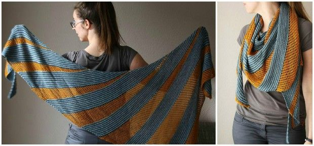 Quicksilver shawl knitting pattern by Melanie Berg - get the pattern at LoveKnitting!