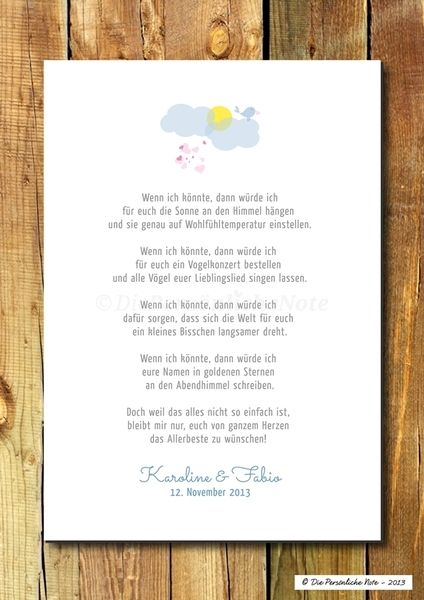Druck/Wandbild: Humorvoller Segenswunsch (Liebe) von Die Persönliche Note auf DaWanda.com