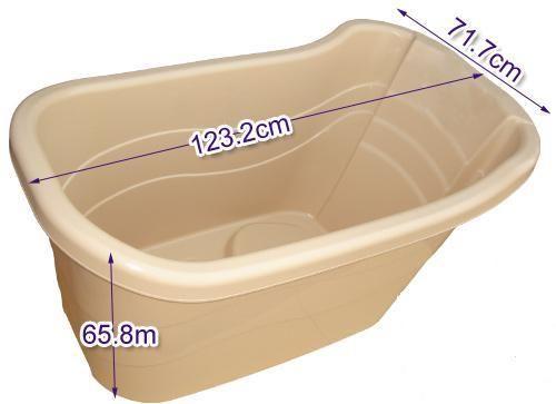 Julie's Bathtub - Enjoy Your Bath With Portable Bathtub: Portable bath tub with drainage pipe .