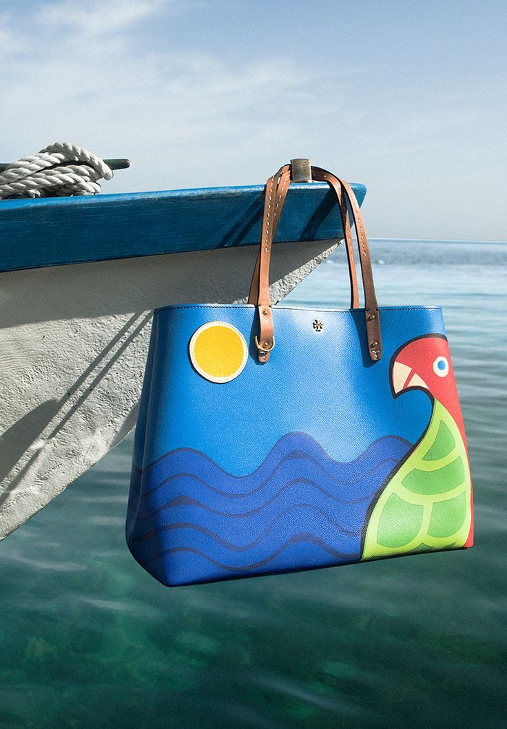 Tory Burch Kerrington Parrot Square Tote | Tropical and Charming