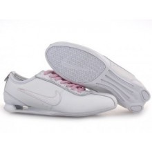 Womens Nike Shox Rivalry Pattern Shoes White Pink