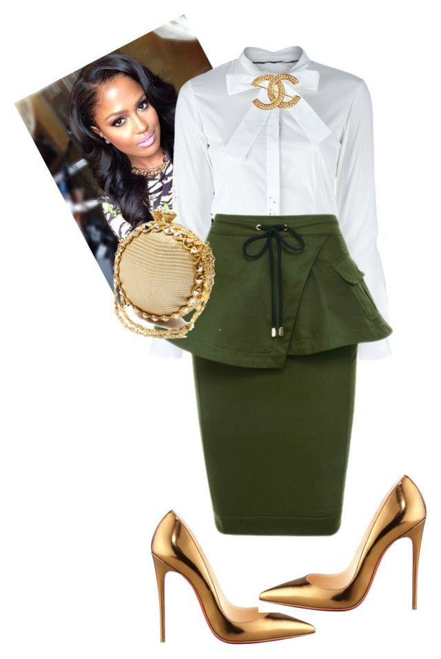 """""""Untitled #528"""" by cogic-fashion on Polyvore featuring Christian Louboutin, Burberry and Chanel #skirtoutfits"""