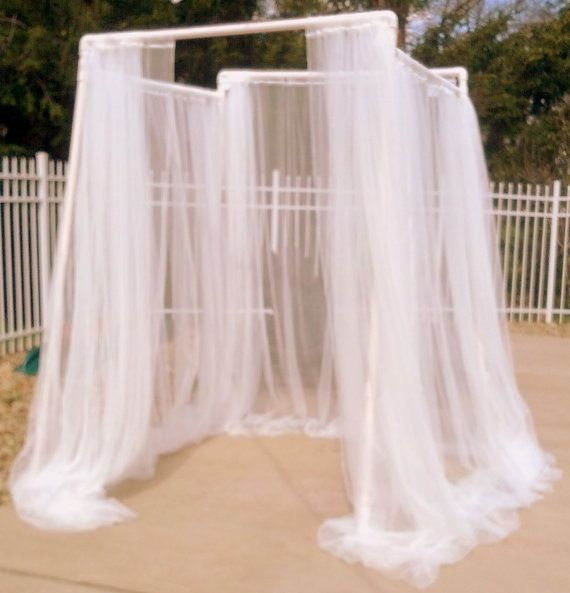 15 best images about wedding decor on pinterest for White canopy curtains