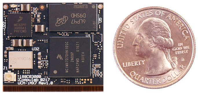 Compulab makes a line of tiny desktop computers that it sells under the Fit-PC brand, among others. But the company also offers a line of computer-on-modules including solutions with Intel and AMD chips, and tiny models with ARM-based chips from Freescale/NXP.  The company's latest ARM-based module is called the UCM-iMX7 and it features a Cortex-A7 processor, up to 2GB of RAM, up to 32GB of storage, and integrated WiFi, Bluetooth, and Ethernet support.  It also measures just 30mm x 2...