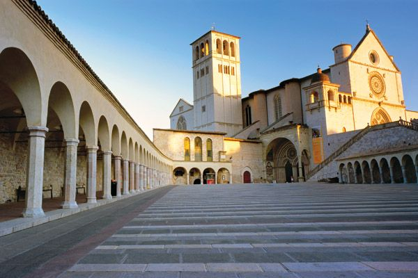 The Basilica of St. Francis, Assisi, Italy.