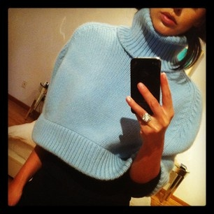 ice blue capelet.