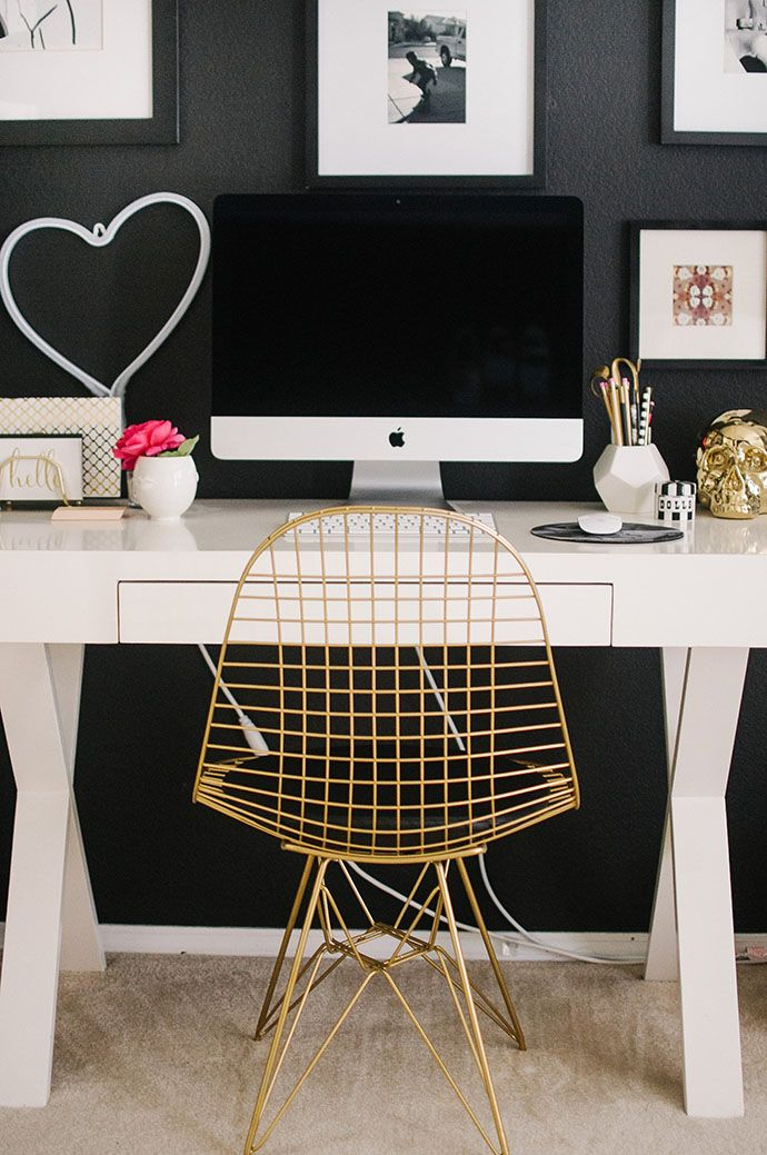 desk chair ideas cheap ghost touring the home of our ggathome tour finalist amber chambers interior inspiration office space decor