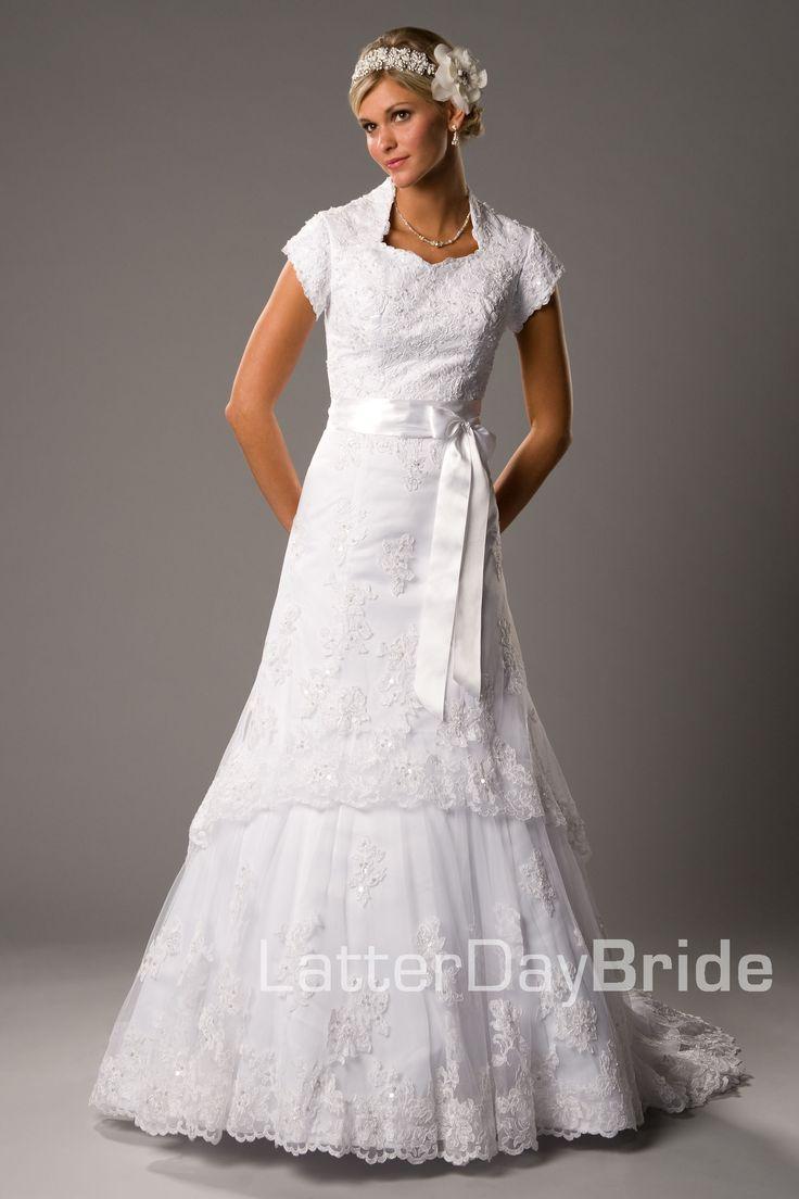 Modest Wedding Dress, Holbrook | LatterDayBride & Prom All ...