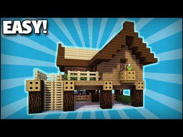 Minecraft How To Build A Small Starter Survival House 1 Easy Tutorial Youtube Smallwo Cute Minecraft Houses Easy Minecraft Houses Minecraft Starter House