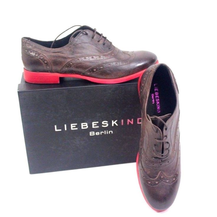 NEW Liebeskind Berlin Leather Womens Oxfords Shoes Size39 Made in Italy #Liebeskind #Oxfords