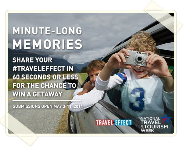 It's National Travel & Tourism Week: how are you celebrating? Share why travel is key to you and you could win a trip! #NTTW14 #Travel Effect