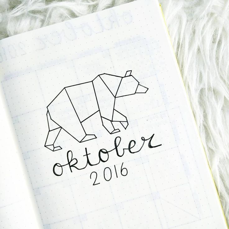 Oh well, hello October, are you there already? It's that time again to start planning a new month... #bulletjournal #bujo #bulletjournaling #bulletjournaljunkies #bulletjournallove #bulletjournaladdicts #bulletjournalcommunity #bujolove #planner #agenda #dottednotebook #leuchtturm1917 #october #origamibear #bear #origamidrawing #newmonth #2016