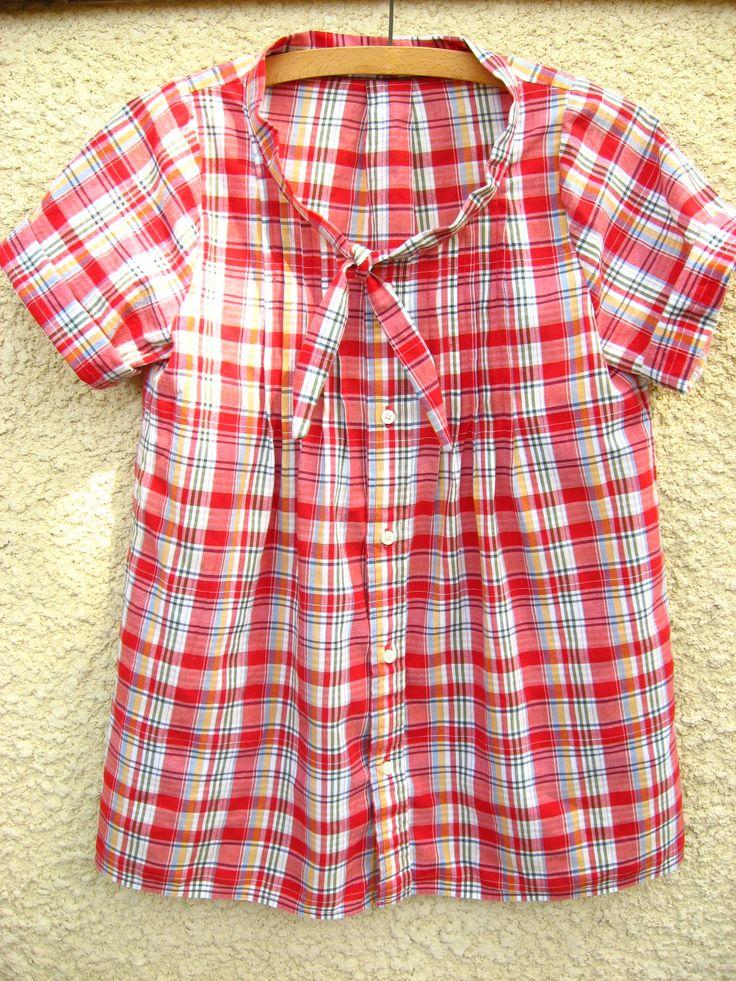 men's shirt refashion...this is cute..would make cute peasant top