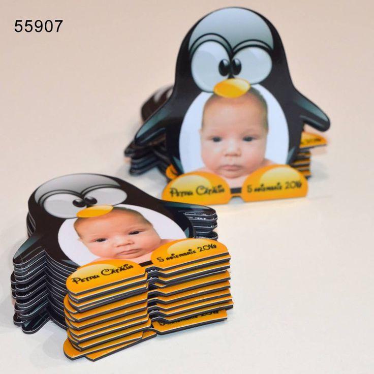 Magneti Marturii Botez Forma Pinguin www.personalizaricadouri.eu