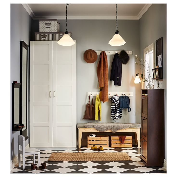 To go in corner nearest the door.  IKEA PAX wardrobe 10 year guarantee. Read about the terms in the guarantee brochure.