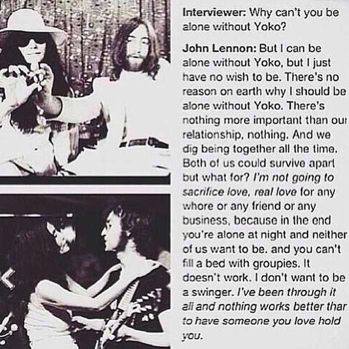 John Lennon with Yoko Ono interviewed in 1968.(?) NYC
