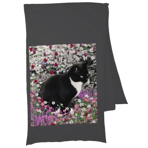 Nabi Cat on a Line Scarf Pink with Black Cats Scarf Wrap Ladies Womens Scarves