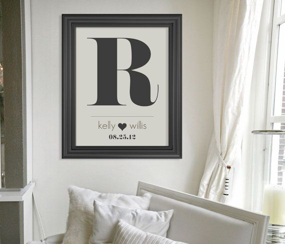 Custom Monogram Art Print  Wedding Present // by HARVEYGREY, $24.00