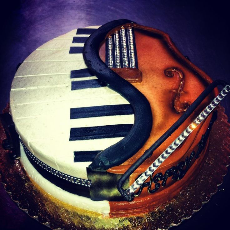 Piano violin cake cuisine creative food designs for Violin decorating ideas