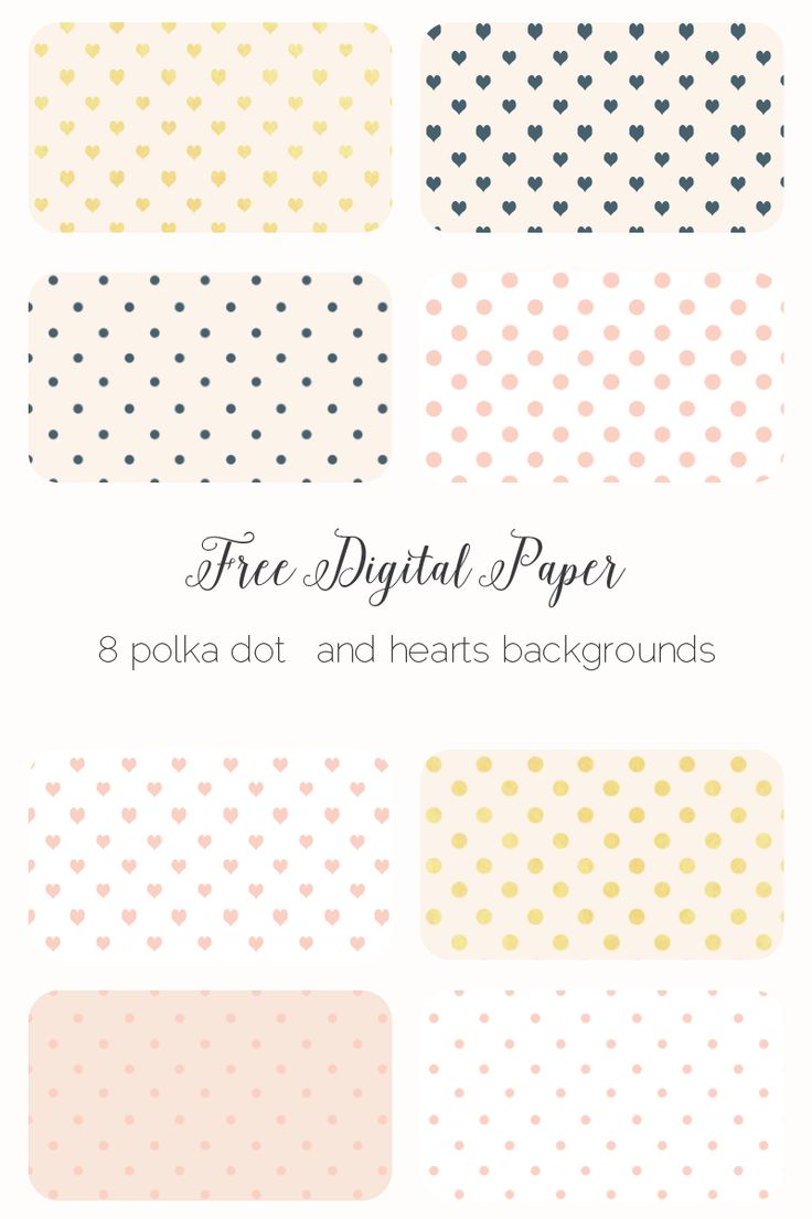 Free polka dot backgrounds for scrapbooking or card making. The polka dot backgrounds are made using a delicate pink, gold leaf and ink color scheme.