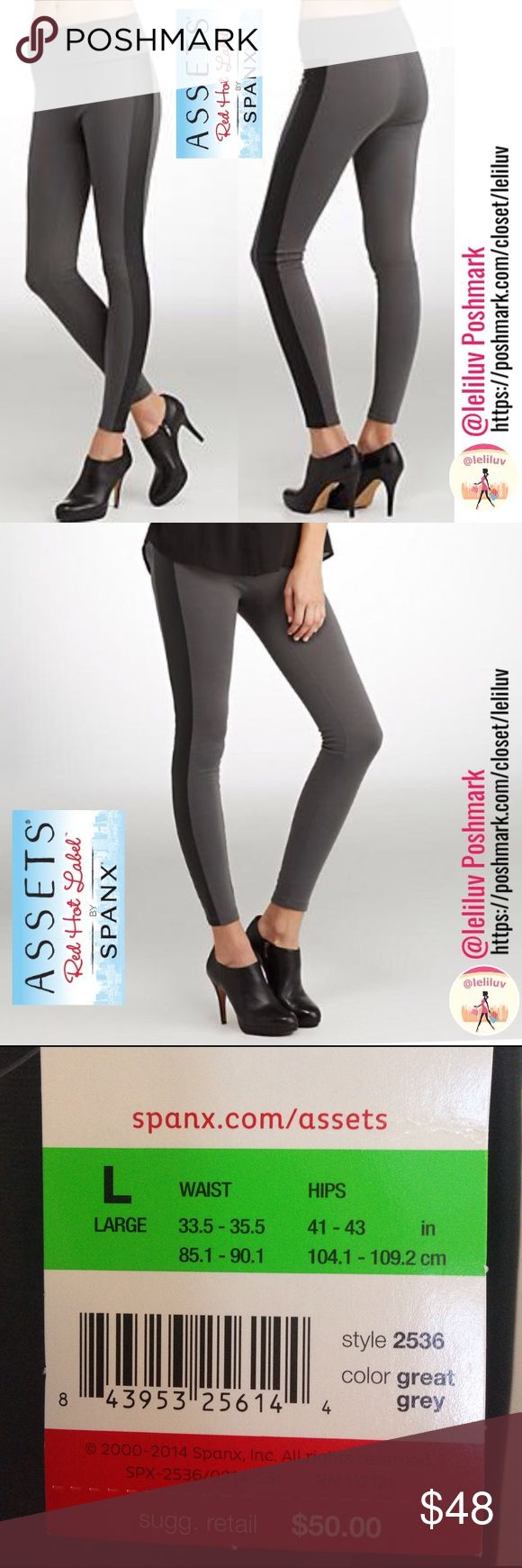 "🎉HP🎉 Racing shapewear leggings w/ leather stripe NWT (check pic. for size chart). Structured slimming Racing gray leggings.  • Slims and smoothes from tummy to legs • Wide, double-layer mesh waistband flattens tummy  • Flattering fabric  • Leather-like side panels add a trendy finish  89% Polyester, 11% Spandex/Elastane 📐Length 41.5"", Waist: 14.5"", Hips: 17.5"", Inseam: 29.5""📍Leg opening: 4.5""🎉Host Pick ""Classic Style"" 3/14/17🎉  Wear with heels for a more polished look, or…"