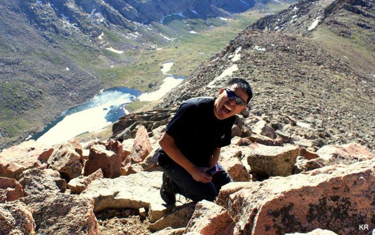 """It was on the summit of Mt Bierstadt on June 22, 2013"" #PersonalSummits #hike #14er #Colorado @Andrea Black Diamond Equipment"
