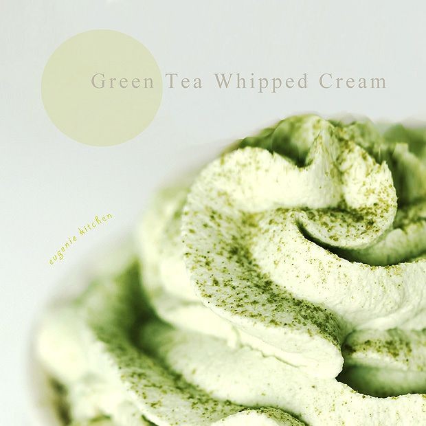I made Green Tea muffin a few days ago. And this green tea whipped cream perfectly goes with the muffins. Serve it on the side or pipe on top of the muffins. It's so delicious! Let's ge…