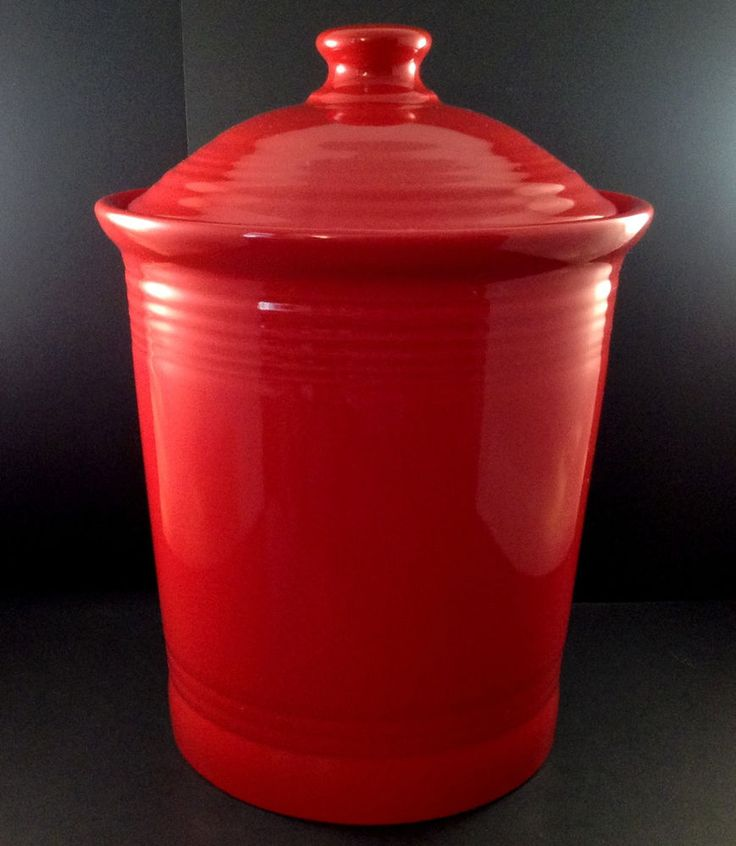 Fiesta Red Canister 3 Quart Fiestaware Homer Laughlin USA Pre-Owned | Pottery & Glass, Pottery & China, China & Dinnerware | eBay!
