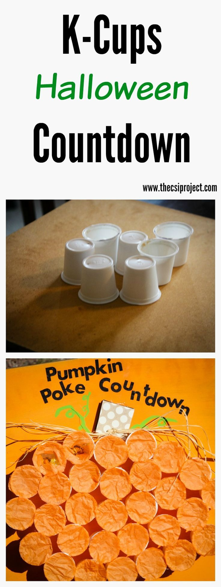Recycle those K-Cups and create a fun way to countdown to Halloween with just a…