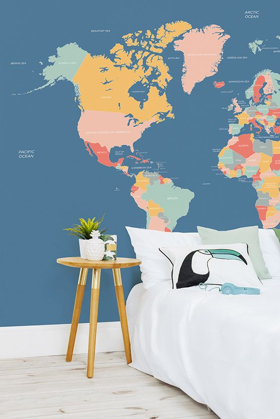 83 best world map wallpaper images on pinterest bedroom ideas navigator world map mural muralswallpaper publicscrutiny Choice Image