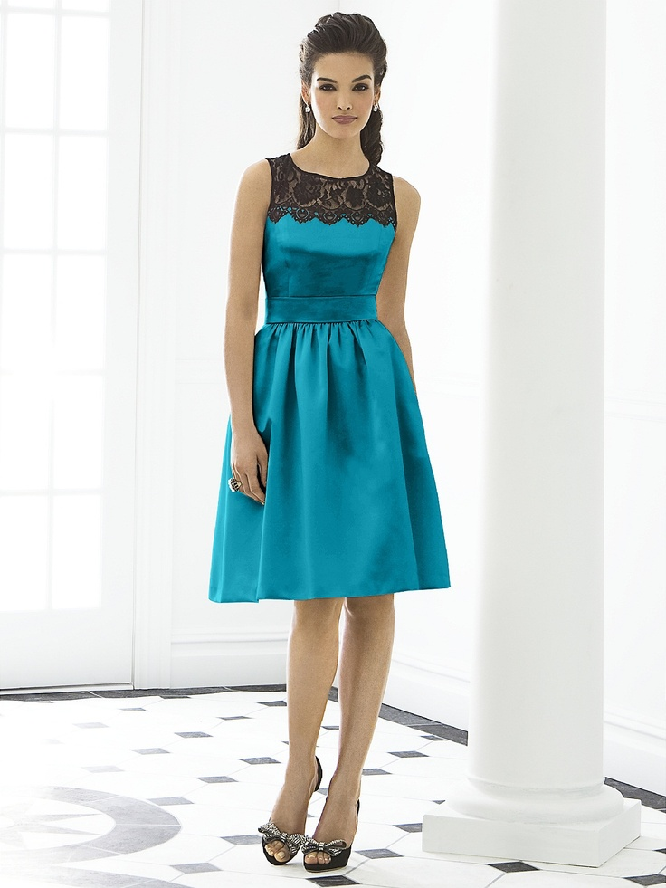 After Six Bridesmaid Dress 6644  see teal pretty... long would be nice too or different fabric?? :) :)